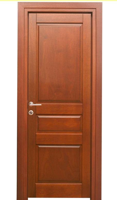Πόρτα εσωτερικού χώρου με ταμπλαδωτό σχεδιασμό  κατασκευασμένη από ξύλο μεράντι