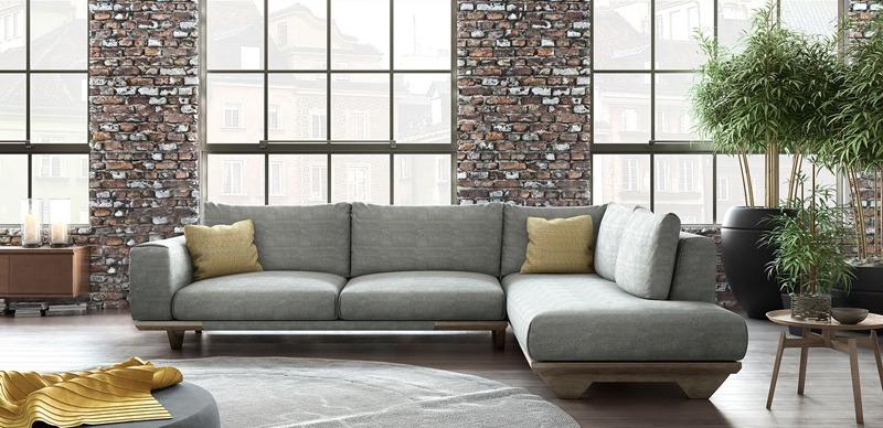 Γωνιακός καναπές σε μίνιμαλ