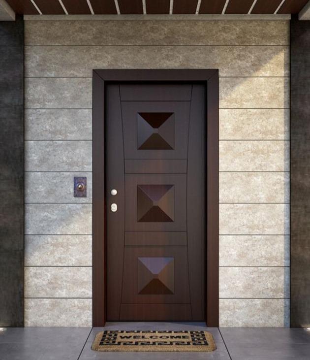 Θωρακισμένη πόρτα κατασκευασμένο από τεχνητό ανεγκρέ