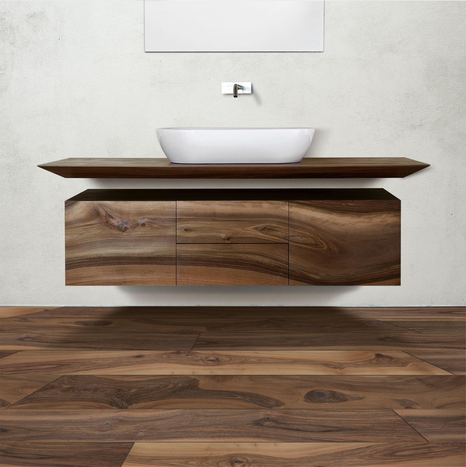 Μοντέρνο έπιπλο μπάνιου σε λιτή μίνιμαλ γραμμή