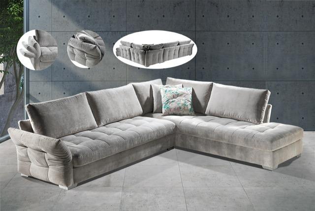Γωνιακός καναπές με εργονομικό σχεδιασμό και πρωτοποριακό  design