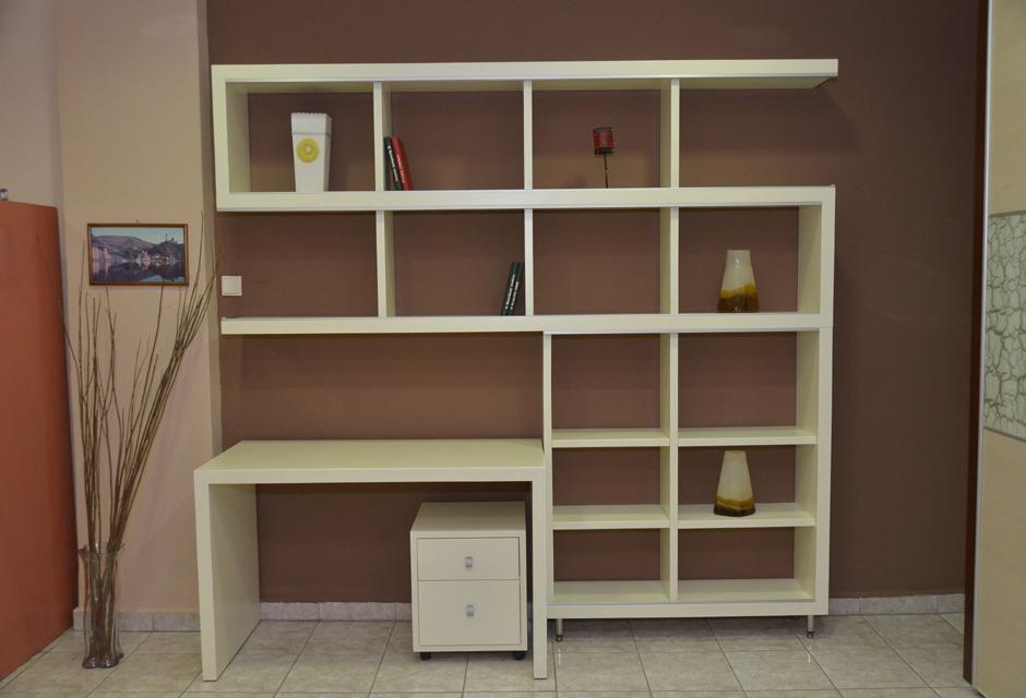 Βιβλιοθήκη σε μοντέρνα απλή γραμμή