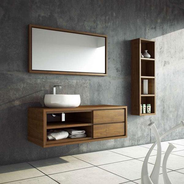Λιτό και ταυτόχρονα λειτουργικό έπιπλο μπάνιου