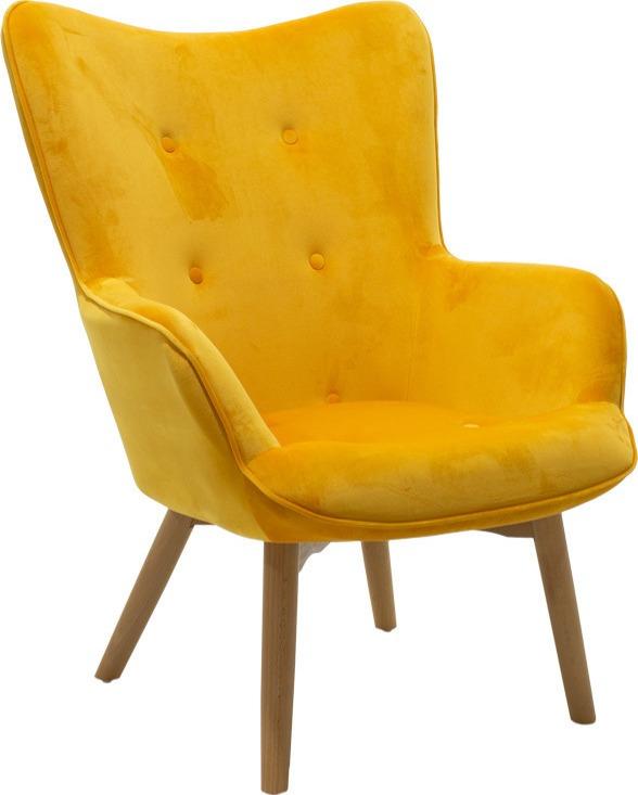 Πολυθρόνα σε μοντέρνα μίνιμαλ γραμμή με κουμπιά σε κάθισμα και πλάτη.