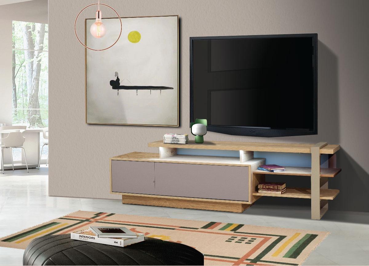 Έπιπλο TV σε λιτή γραμμή πάντα σε μοντέρνο ύφος.