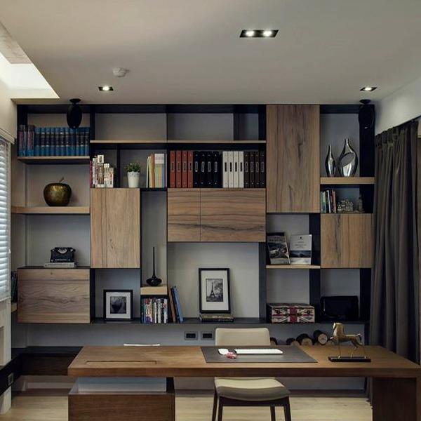 Βιβλιοθήκη με design και έξυπνο σχεδιασμό.